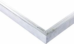 Daktrim recht voor tuinhuis/overkapping plat dak tot afmeting 505 x 350 cm, aluminium