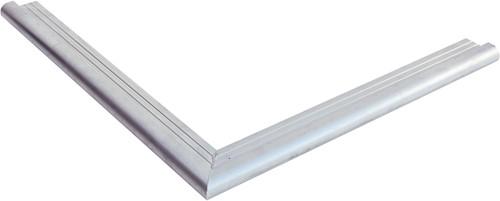 Daktrim met ronde kraal voor tuinhuis/overkapping plat dak tot afmeting 505 x 350 cm, aluminium