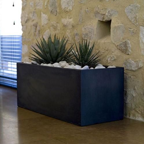 Vondom kunststof bloembak Jardiniere, afm. 40 x 100 x 40 cm, antraciet