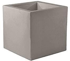 Bloembakken Kunststof Buiten.Vondom Kunststof Bloembak Cube Afm 40 X 40 X 40 Cm Taupe