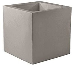 Vondom kunststof bloembak Cube, afm. 40 x 40 x 40 cm, taupe