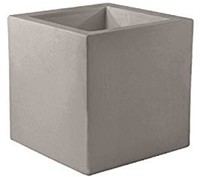 Vondom kunststof bloembak Cube, afm. 50 x 50 x 50 cm, taupe