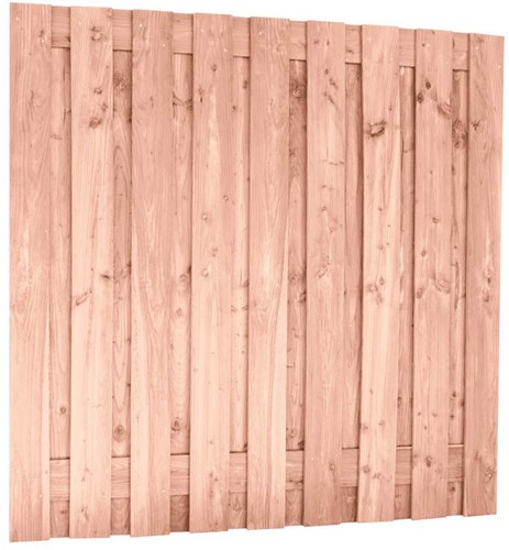 Douglas tuinscherm, afm 180 x 180 cm, 19-planks fijn bezaagd onbehandeld