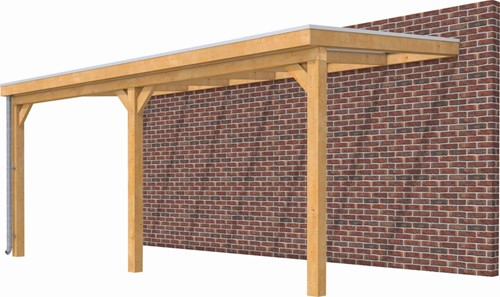 Hillhout douglas veranda Excellent 600, afm. 606 x 393 cm, heldere dakplaat