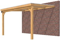 Hillhout douglas veranda Excellent 400, afm. 428 x 300 cm, heldere dakplaat