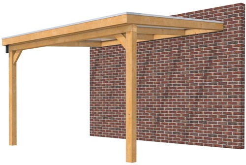Hillhout douglas veranda Excellent 400, afm. 406 x 393 cm, opaal dakplaat