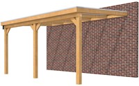 Hillhout douglas veranda Excellent 500, afm. 528 x 400 cm, heldere dakplaat