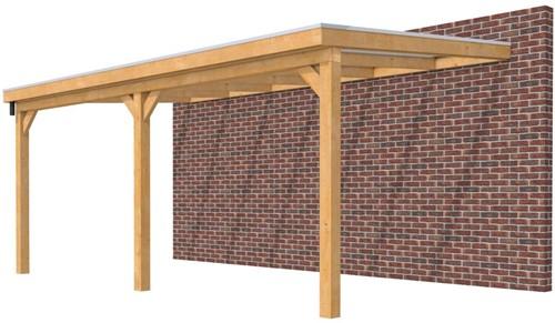 Hillhout douglas veranda Excellent 600, afm. 628 x 350 cm, heldere dakplaat