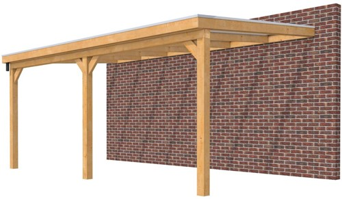 Hillhout douglas veranda Excellent 600, afm. 628 x 400 cm, heldere dakplaat