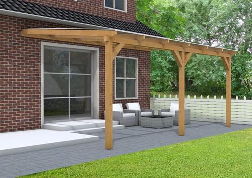 Douglas veranda, afm. 500 x 400 cm, opaal dakplaat-2
