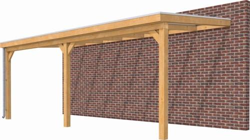 Hillhout douglas veranda Excellent 700, afm. 712 x 410 cm, heldere dakplaat