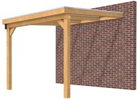 Hillhout douglas veranda Excellent 300, afm. 328 x 400 cm, opaal dakplaat-1