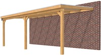 Hillhout douglas veranda Excellent 700, afm. 728 x 300 cm, heldere dakplaat-1