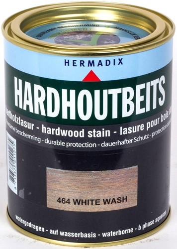 Hermadix hardhoutbeits, transparant, nr. 464 whitewash, blik 0,75 liter
