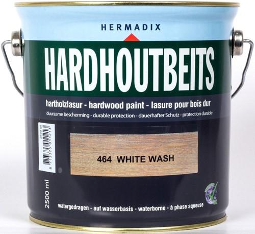 Hermadix hardhoutbeits, transparant, nr. 464 whitewash, blik 2,5 liter