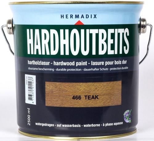 Hermadix hardhoutbeits, transparant, nr. 466 teak, blik 2,5 liter