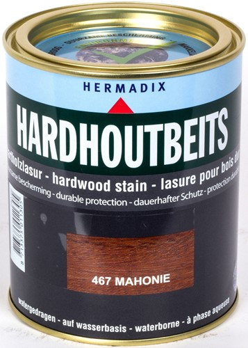 Hermadix hardhoutbeits, transparant, nr. 467 mahonie, blik 0,75 liter