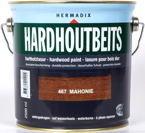 Hermadix hardhoutbeits, transparant, nr. 467 mahonie, blik 2,5 liter