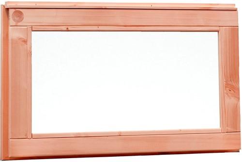 Vast raam met melkglas, buitenmaat 72 x 40 cm, douglas
