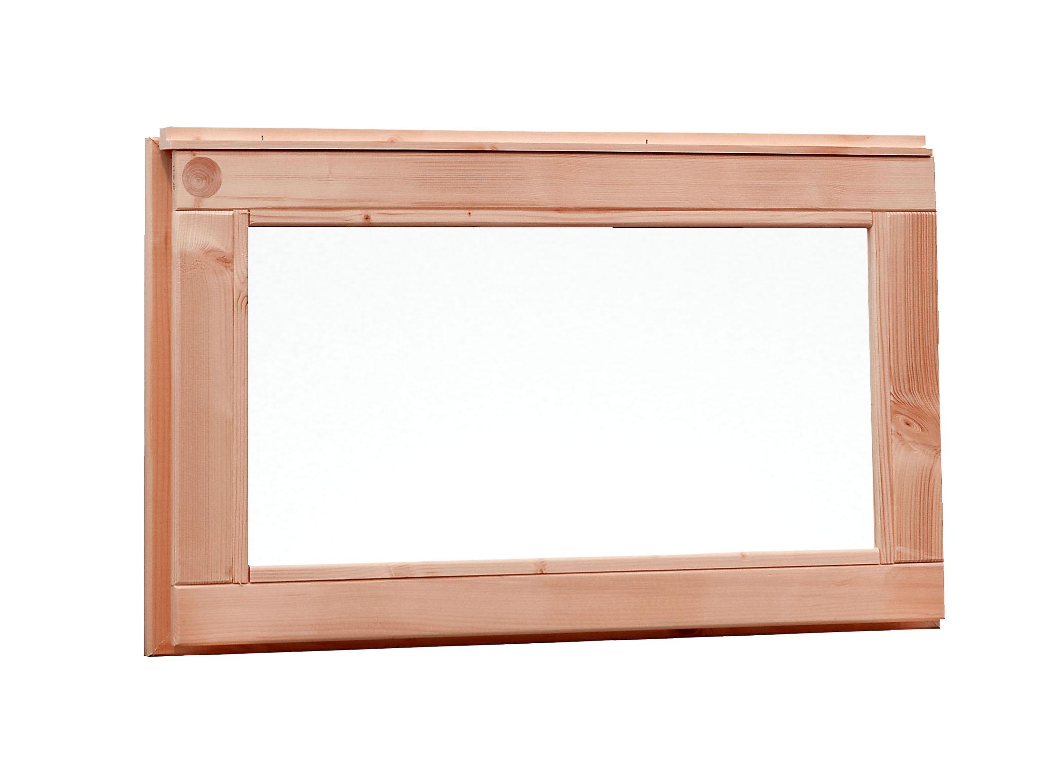 Kühlkamp Vast raam met melkglas, buitenmaat 72 x 40 cm, douglas - groen geïmpregneerd