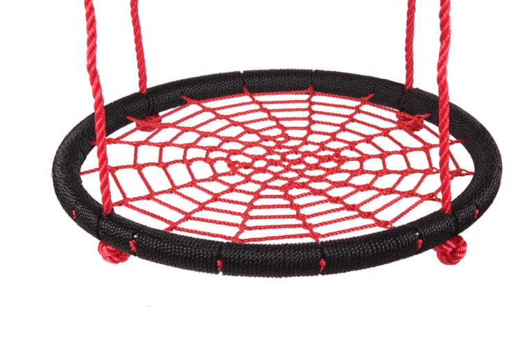 Kühlkamp nestschommel diam. 95 cm, zwart/rood