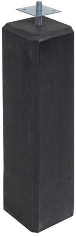 Betonpoer 15 x 15 x 60 cm, incl. huls rond 20 mm, antraciet
