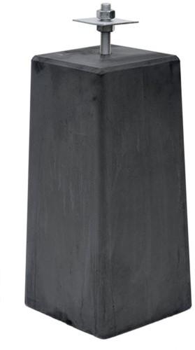 betonpoer XL 22,5 x 22,5 x 50 cm + stelplaat, antraciet