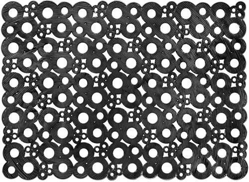 Deurmat Bubbles, afm. 50 x 70 cm - zwart