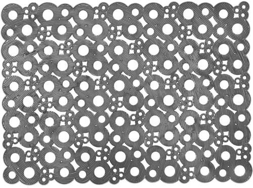 Deurmat Bubbles, afm. 50 x 70 cm - grijs