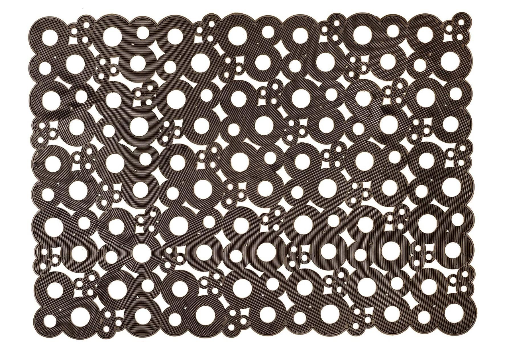 MD-Entree deurmatten Deurmat Bubbles, afm. 50 x 70 cm - taupe