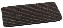Deurmat Topscrape brown-stripe, afm. 50 x 75 cm, bruin/zwart gestreept