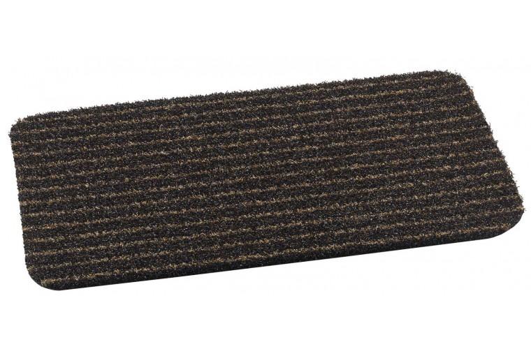 MD-Entree deurmatten Deurmat Topscrape brown-stripe, afm. 50 x 75 cm, bruin/zwart gestreept