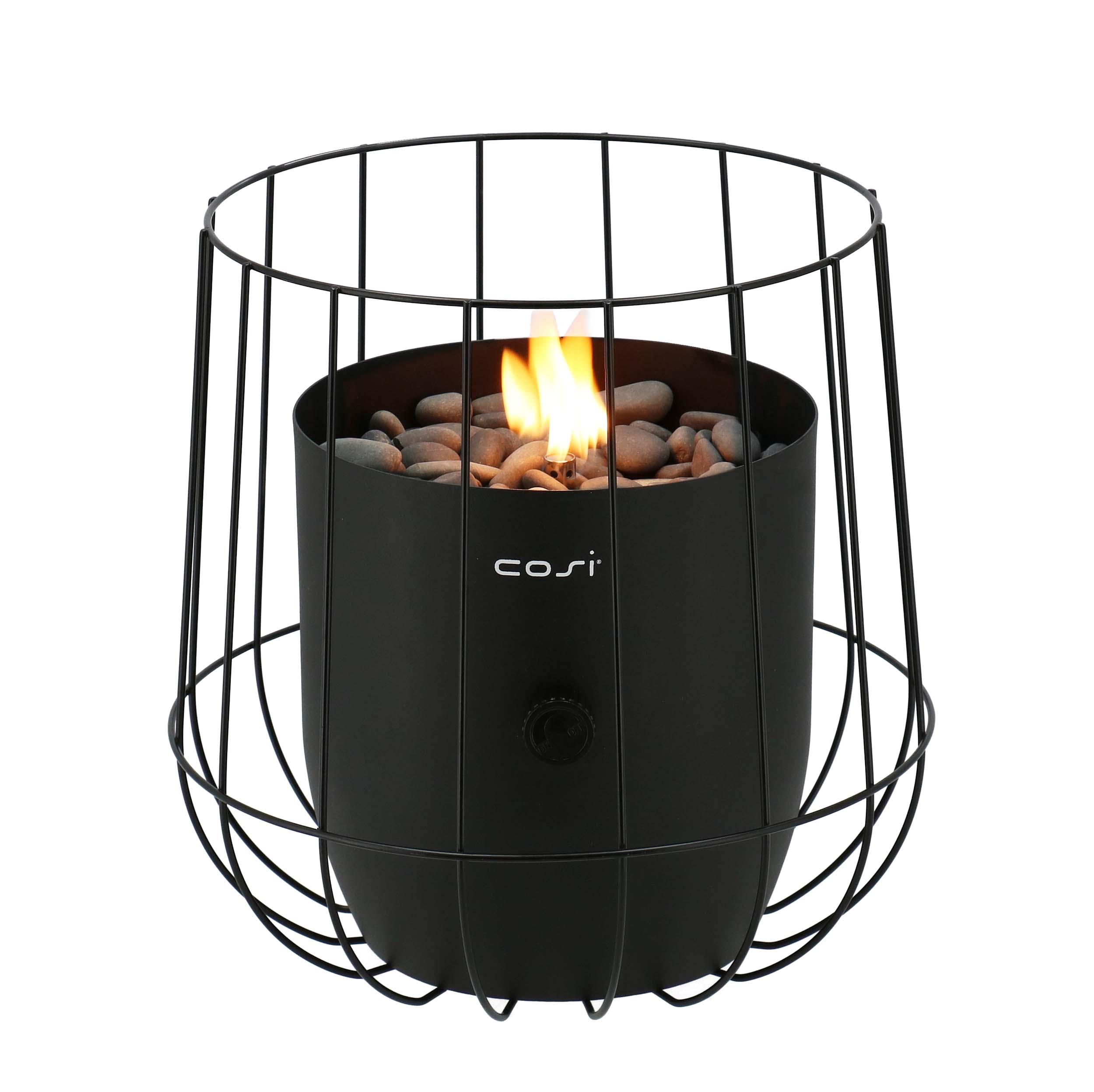 Cosi Fires vuurtafels en gaslantaarns Cosi Fires gaslantaarn Cosiscoop Basket Black