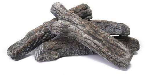 Cosi Fires Cosi houtblokken, set van 4 stuks, keramiek