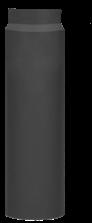 Cosi Fires rechte kachelpijp 50 cm, diameter 15 cm zwart
