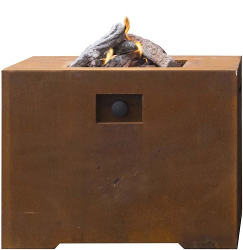 Cosi Fires vuurtafel Cosiconcrete  80, afm. 78 x 78 cm, hoogte 63 cm, 9kW, cortensteel-2
