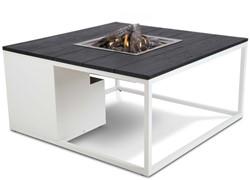 Cosi Fires loungetafel/vuurtafel Cosiloft white/black, afm. 100 x 100 x 47 cm