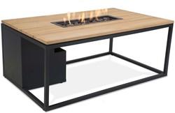 Cosi Fires loungetafel/vuurtafel Cosiloft black/teak, afm. 120 x 80 x 47 cm