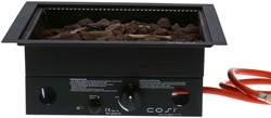 Cosi Fires inbouwbrander Cosiburner, vierkant black, afm. 40 x 40 cm, hoogte 16,5 cm, vermogen 9kW