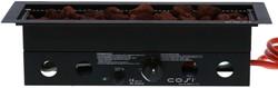 Cosi Fires inbouwbrander Cosiburner , straight black, afm. 60 x 22 cm, hoogte 16,5 cm, vermogen 9kW