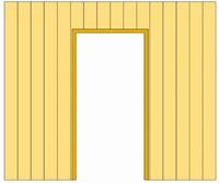 Douglasvision Wand C halfhouts verticale zweeds rabat enkelzijdig t.b.v. enkele deur 278,5 x 232 cm, douglas hout-3