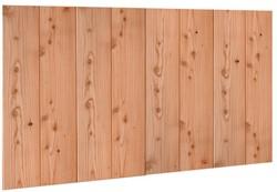 Douglasvision Wand C verticale halfhouts rabat dubbelzijdige wand, afm. 278,5 x 232 cm - onbehandeld (blank)