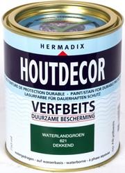 Hermadix houtdecor verfbeits, dekkend, nr. 621 waterland groen, blik 0,75 liter