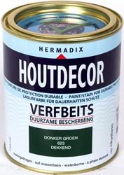Hermadix houtdecor verfbeits, dekkend, nr. 623 donkergroen, blik 0,75 liter