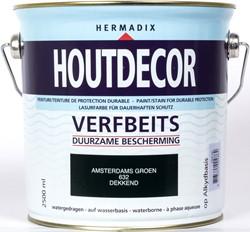 Hermadix houtdecor verfbeits, dekkend, nr. 632 Amsterdams groen, blik 2,5 liter