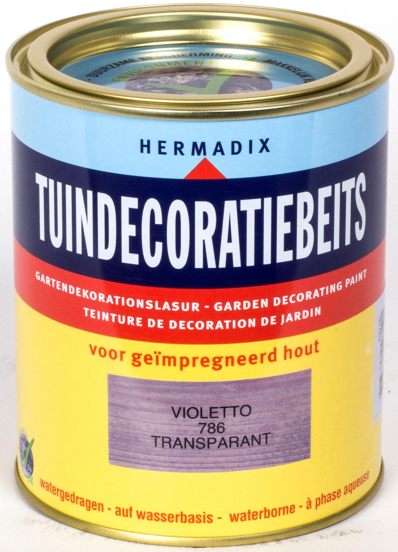 Hermadix beits Hermadix tuindecoratiebeits, transparant, nr. 786 violetto, blik 0,75 liter