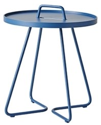 Cane-Line On-the-move tafel, small, dusty blue, showmodel