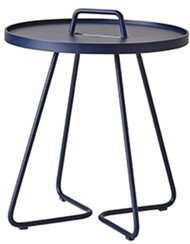 Cane-Line On-the-move tafel, small, midnight dark blue, showmodel