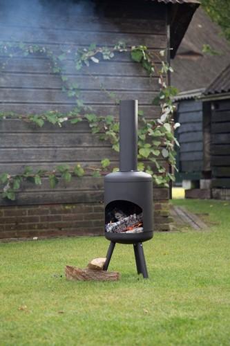 RedFire terrashaard Fuego Small, diam. 30 cm, hoogte 115 cm, zwart staal-2