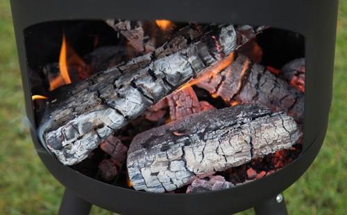 RedFire terrashaard Fuego Small, diam. 30 cm, hoogte 115 cm, zwart staal-3